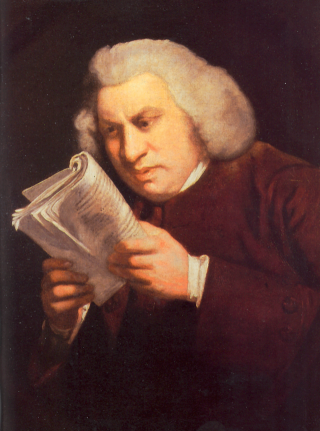 Samuel Johnson, as painted by Joshua Reynolds, around 1775 (Wikimedia Commons)