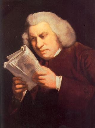 Samuel Johnson, as painted by Joshua Reynolds, around 1775 (Wikimedia Commons)