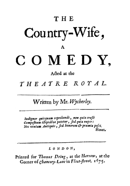 The title page to the first edition of 1675.
