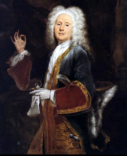"""Fop"" meant a man who dressed extravagantly, taking fashion to an excess. Here is Colley Cibber in his signature role of Lord Foppington, around 1697."