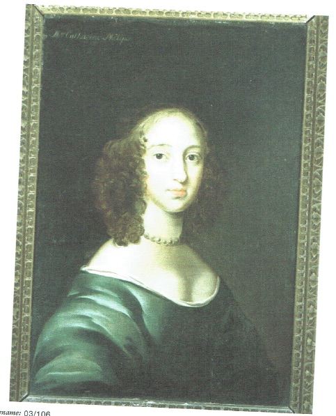 The only known image from the life of Katherine Philips. Painted by an unknown artist, probably associated with Peter Lely. Now in a private collection.