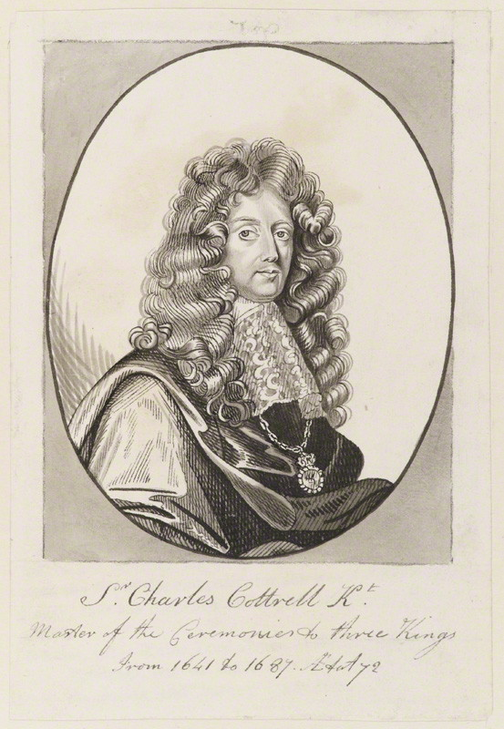 Sir Charles Cotterell, possibly by George Perfect Harding, probably after John Riley, watercolour, (circa 1687) National Portrait Gallery, London