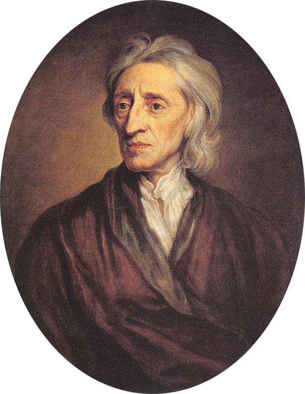 John Locke, by Godfrey Kneller, about 1697. [Wikimedia Commons]