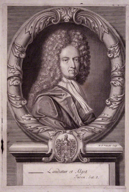 Daniel Defoe, depicted c. 1706. This portrait was the frontispiece to Defoe's very long verse satire entitled *Jure Divino* a poem designed to mock the idea of divine-right monarchy.