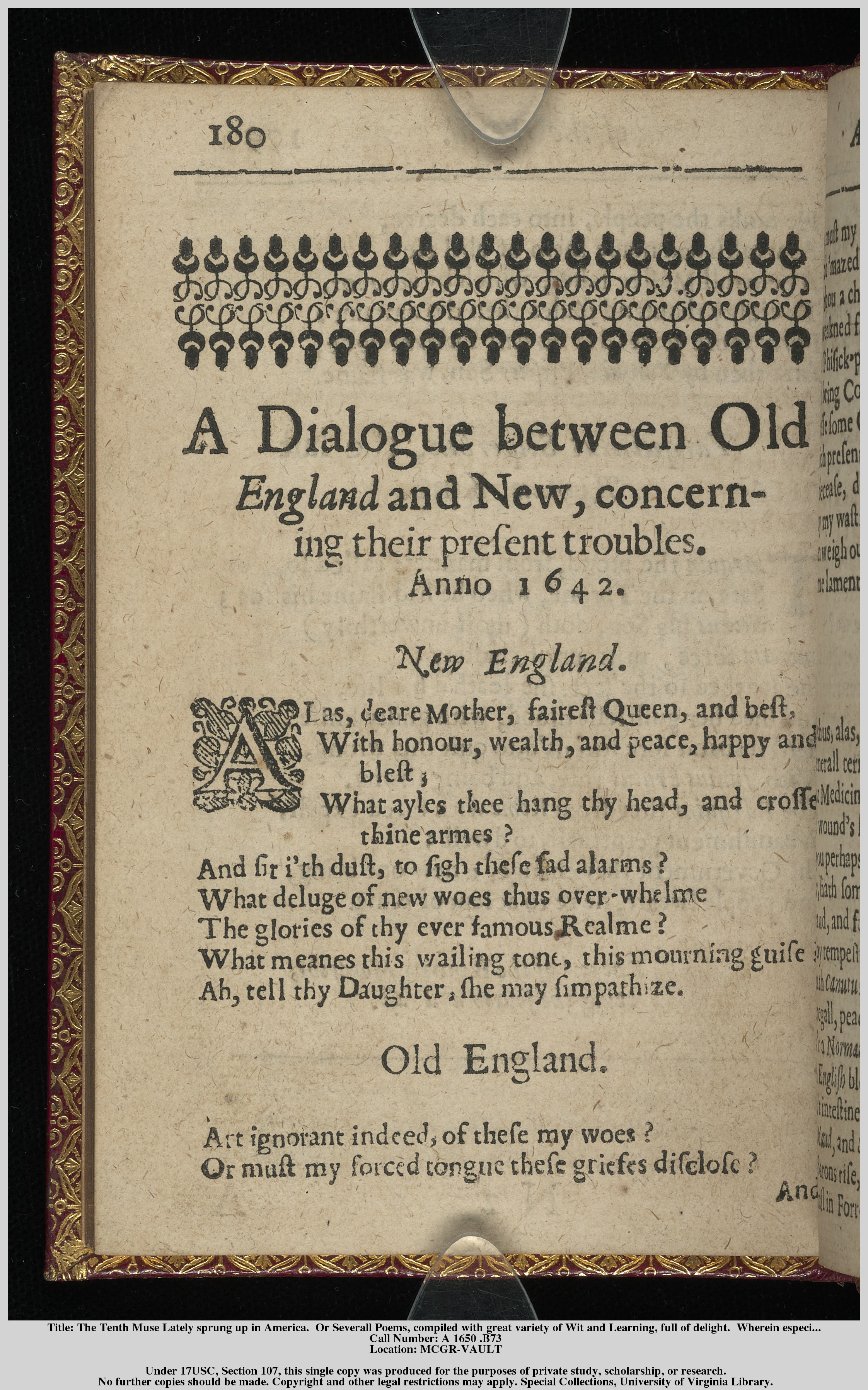 a literary analysis of the tenth muse lately sprung up in america by anne bradstreet