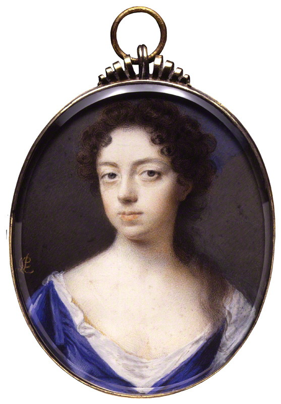 Anne Finch, by Peter Cross, watercolour on vellum, circa 1690 (National Portrait Gallery)