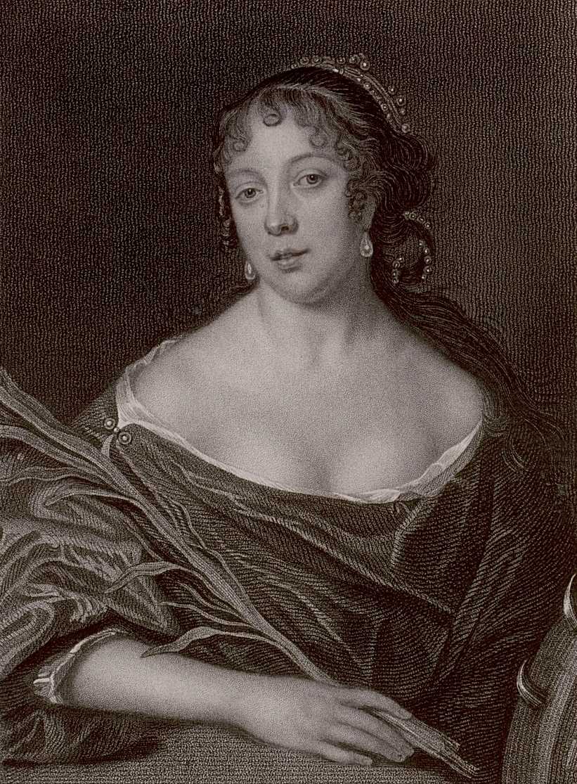Elisabeth Pepys. This is an engraving that was copied from a portrait by John Hayls that was probably painted in 1666 as a companion piece to the painting of Samuel, above. The original painting of Elisabeth is unfortunately lost.