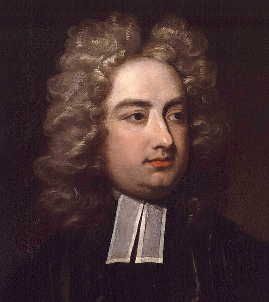 Jonathan Swift, as painted by Charles Jervas, about 1709 (Wikimedia Commons)