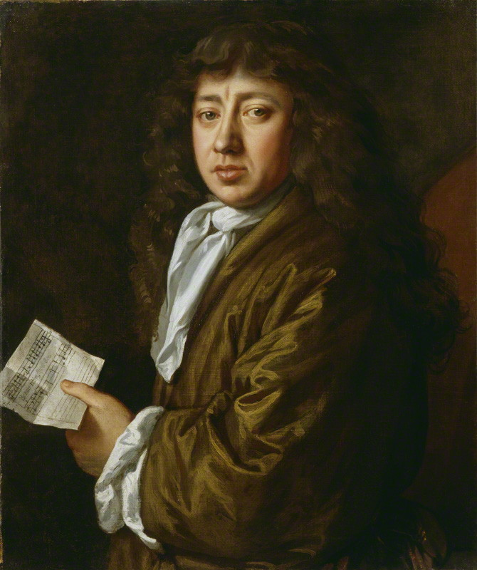 Samuel Pepys, painted by John Hayls in 1666 (National Portrait Gallery, London). Pepys is holding a piece of music that he had composed.