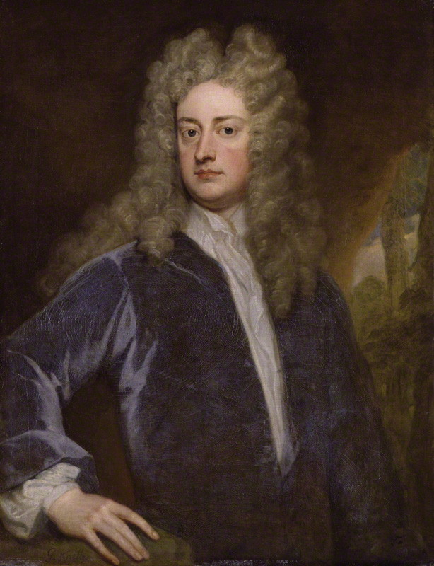 Joseph Addison, by Sir Godfrey Kneller, painted around 1703-1712 (National Portrait Gallery)